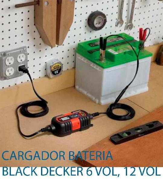 Black decker bm3b 6v y 12v cargador /mantenedor de batería