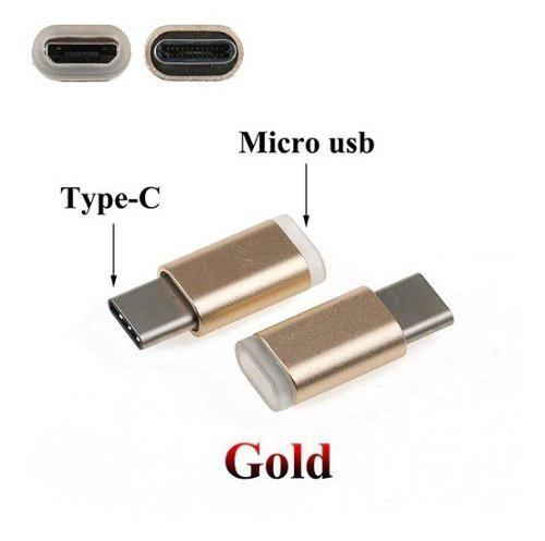 Adaptador micro usb hembra a usbc tipo c macho carga y datos