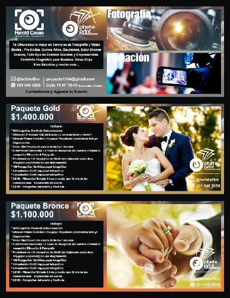Fotografía y vídeos para eventos