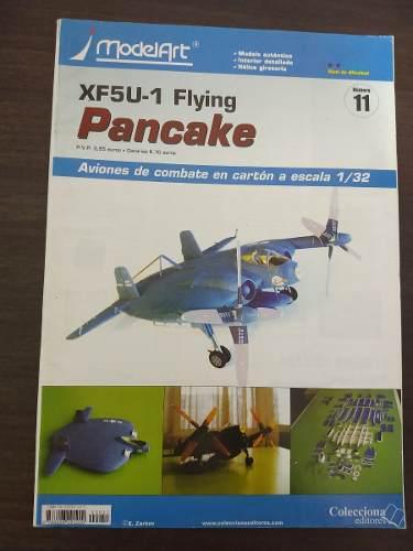 Aeromodelo cartón modelart flying pancake vough escala 1/32