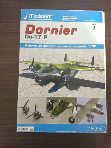 Aeromodelo de cartón modelart dornier do-17 p escala 1/32