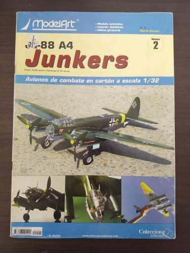Aeromodelo de carton a escala 1:32 curtiss junkers ju-88 a4