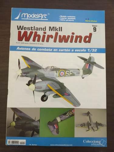 Aeromodelo de carton a escala 1:32 westland whirlwind mkii