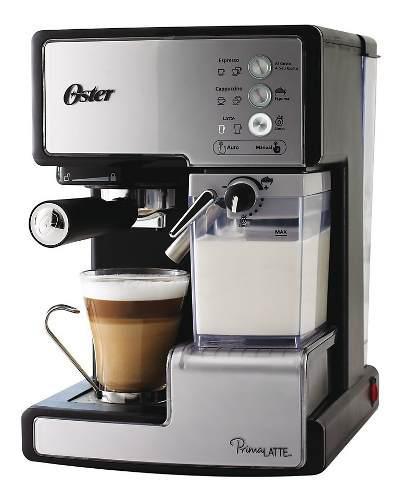 Cafetera automatica oster espresso capuccino latte 15 bares