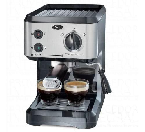 Cafetera capuchinera espresso latte oster plateada 19 bar