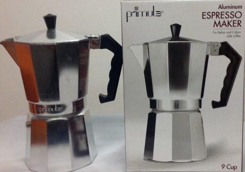 Cafetera Espresso Primula En Aluminio 9 Tazas De Lujo