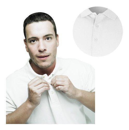 Camiseta tipo polo blanca mujer, hombre, niño, todas
