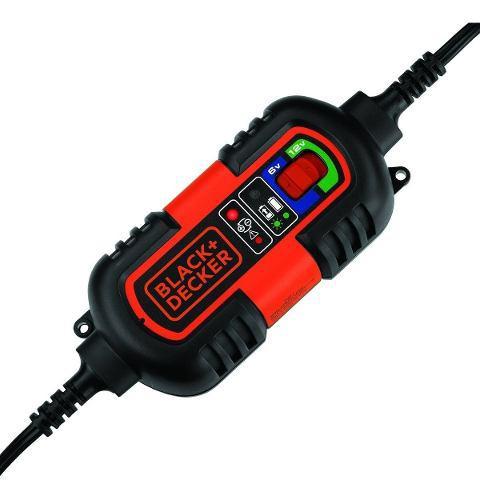Cargador bateria black decker 12v 1a moto carro ups gel agm