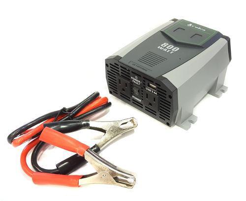 Inversor de potencia de 12v a 240v Convertidor 800w vatios de potencia máxima Camper Camioneta Bote 1600w