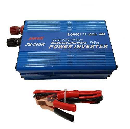 Conversor inversor de 500w 12v-110v con usb jarrett