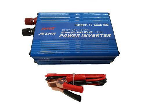 Conversor inversor de 500w 24v-110v con usb jarrett