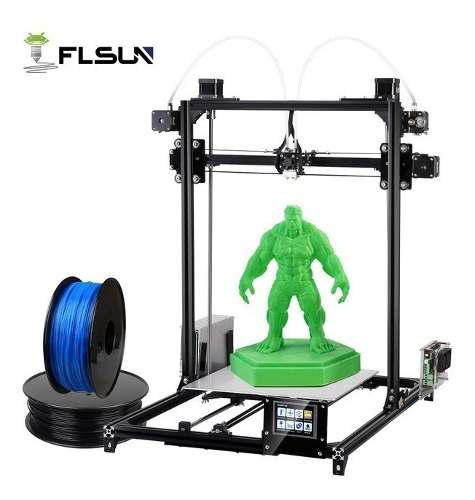 Impresora 3d flsun i3 doble extrusor pantalla tactil