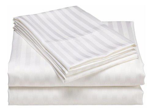 Juego sabanas tipo hotel blancas doble 1.40x1.90