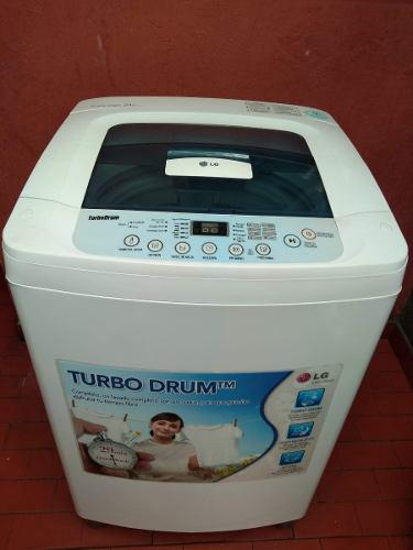 Lavadora lg turbo drum fuzzy logic 24 libras wf-t1011tp