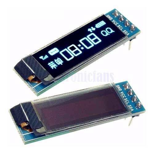 Pantalla lcd oled i2c 0.91 pulgadas 128x32 para arduino
