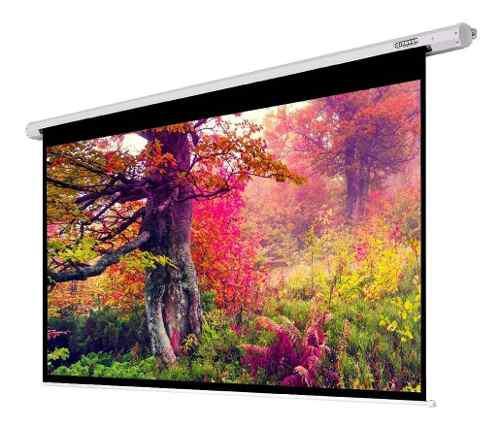 Pantalla telón de proyección manual 180x180cm video beam