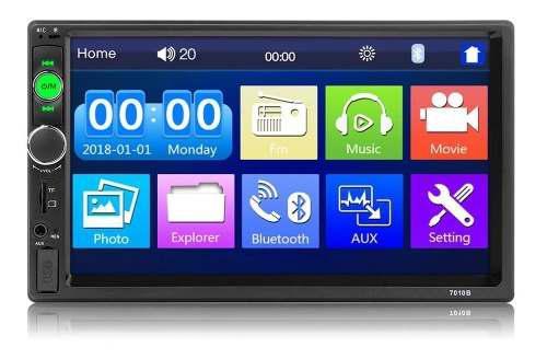 Radio para carro bluetooth usb mirrorlink + camara gratis