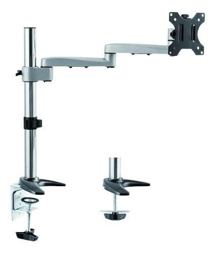 Soporte brazo para monitor en aluminio pantalla lcd led