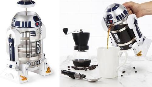 Star wars r2-d2 coffee press cafetera - 32 oz -
