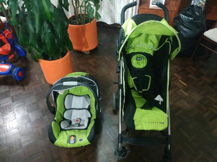 Vendo coche bebe incluye silla auto