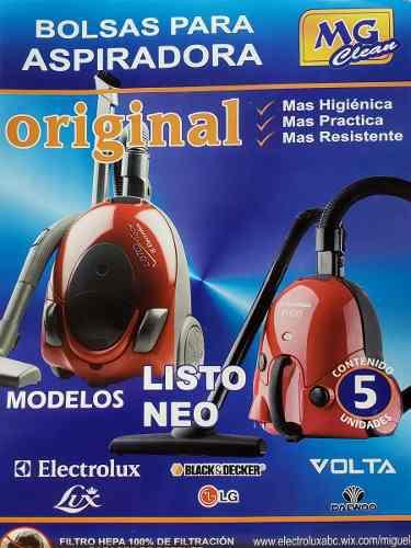 Bolsas listo aspiradora electrolux lis01