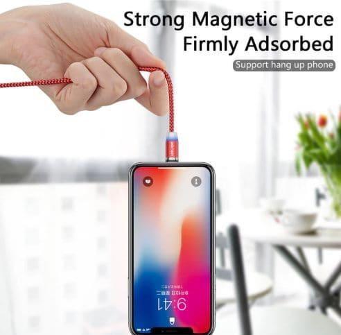 Cable cargador magnetico para celular