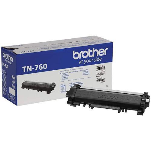 Cartucho de tóner alto rendimiento de brother, tn760, negro