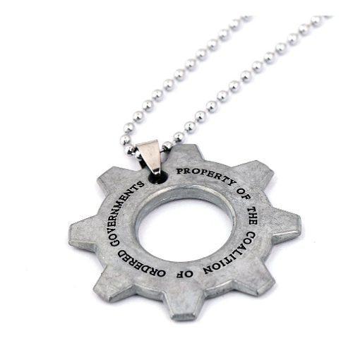 Collar gears of war tags cadena doble marcus importada