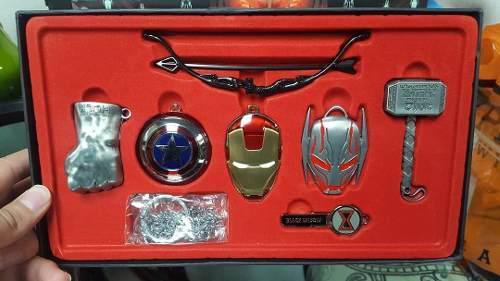 Marvel - collar o llaveros de lujo marvel iron man - capitan
