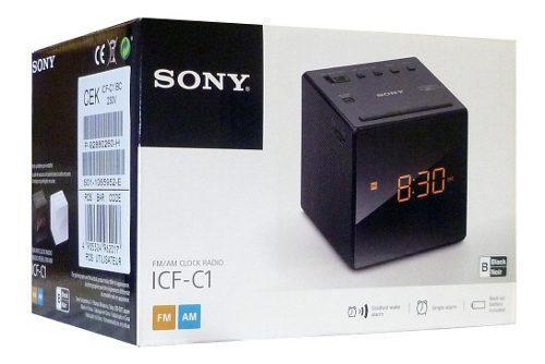 Radio despertador sony cfc1-t negro + envio