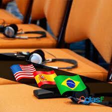 Portugués, español, inglés. traductores e intérpretes. grandes eventos.
