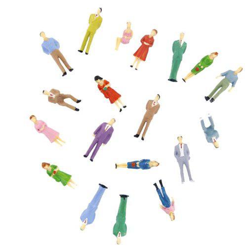 100pcs modelos de paisajismo figuras de persona dipinte tren