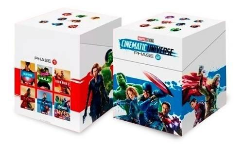 Combo marvel fase 1 y 2 / 12 títulos blu-ray / avengers