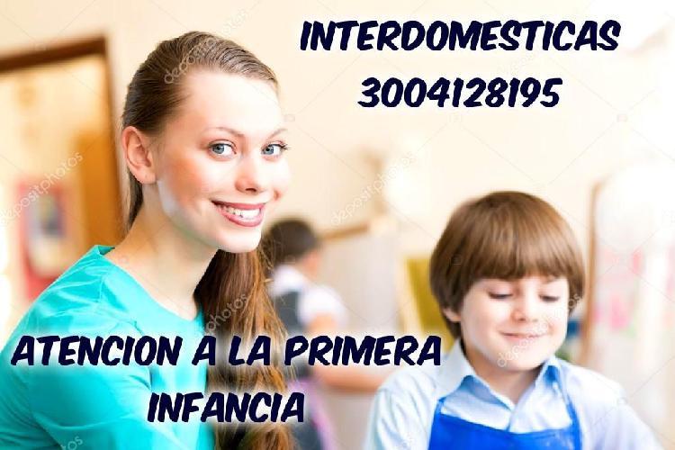 EXCELENTE PERSONAL PARA ATENCIÓN ALA PRIMERA INFANCIA Y