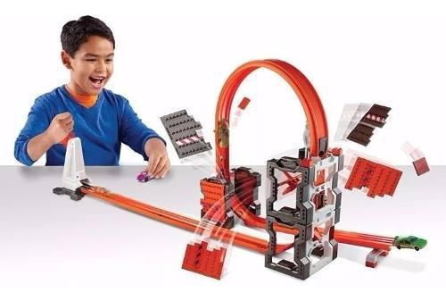 Kit de bloqueo construcción hot wheels track builder dww96