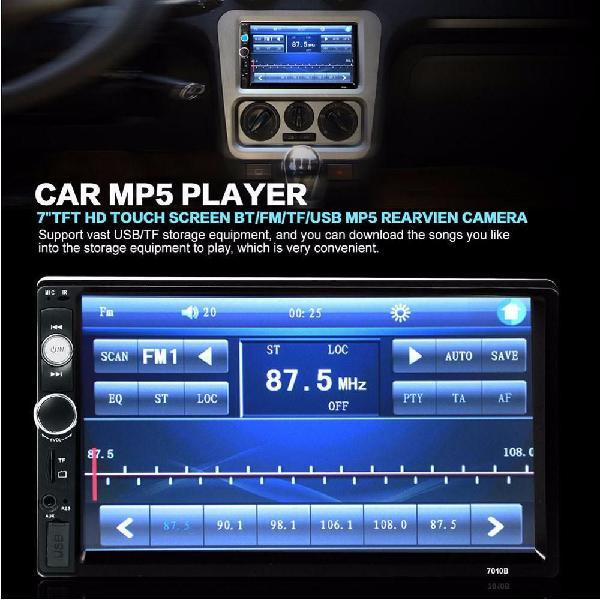 Radio para carro nuevo 7 pulgadas tactil usb aux sd