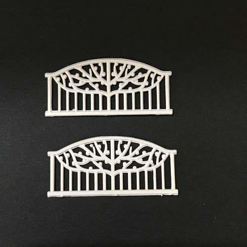 Rejas blancas a escala 1:200 para maquetas mini-art 6 und