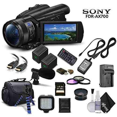 Sony handycam fdr-ax700 4k hd cámara de vídeo videocámar