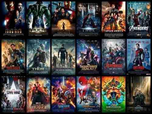 Todas las películas de marvel en formato digital y hd