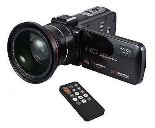 Videocámara andoer la cámara vídeo hd 1080p 16x zoom