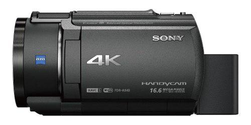 Videocámara sony handycam 4k y sensor exmorr cmos- fdr-ax40