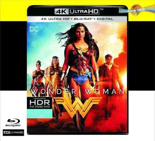 Wonder woman mujer maravilla 4k ultra + blu-ray + hd