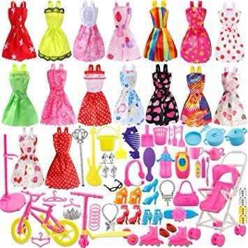 114 piezas accesorios muñeca barbie juguete niña regalo