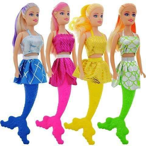 4 muñecas juguete sirena casa juegos 11.0 in + accesorios.