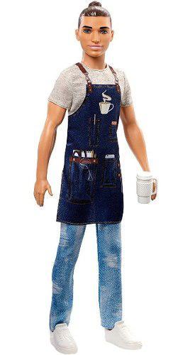 Barbie muñeco ken barista con accesorios mattel fxp03