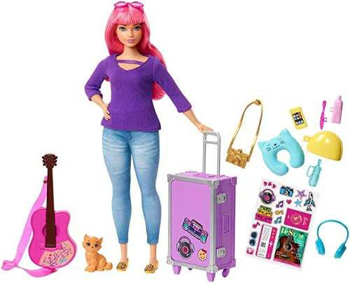 Barbie original daisy muñeca viaje y accesorios