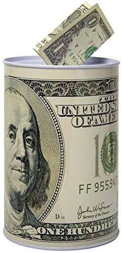 Billete de $ 100 dólar alcancía moneda de 8.5 de altura