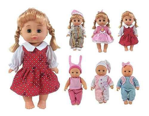 Czc ropa 6 accesorios vestido bebé ideal muñecas 12 a 14