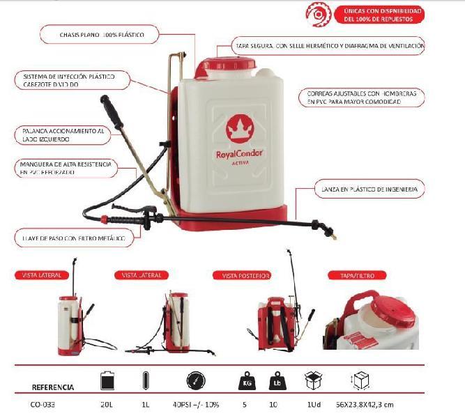 Fumigadora royal condor activa 20 litros