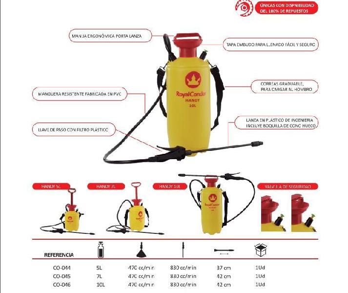 Fumigadora royal condor handy 10 litros jardinera tipo